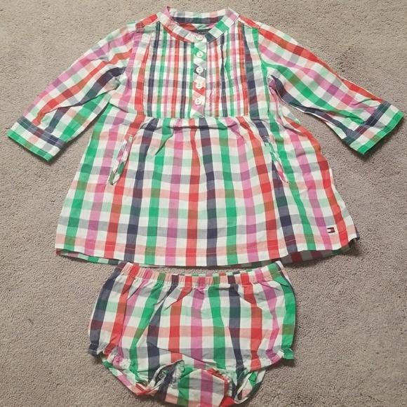 Tommy Hilfiger Dresses   Baby Girl 6m9m Plaids Ls Dress   Poshmark cb77ccd491d9